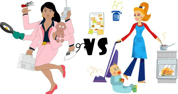 Who has it harder, stay at home moms or working moms